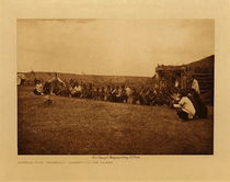 Title: Arikara Corn Ceremony - Bearing Out the Osiers , Date: 1908 , Size: Volume, 9.5 x 12.5 inches , Medium: Vintage Photogravure , Edition: Vintage