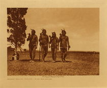 Title: Arikara Medicine Ceremony - Night Men Dancing , Date: 1908 , Size: Volume, 9.5 x 12.5 inches , Medium: Vintage Photogravure , Edition: Vintage