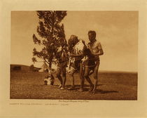 Title: Arikara Medicine Ceremony - The Buffalo Dancing , Date: 1908 , Size: Volume, 9.5 x 12.5 inches , Medium: Vintage Photogravure , Edition: Vintage
