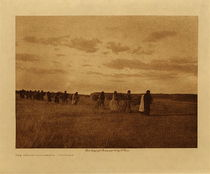 Title: The Brush Gatherers - Arikara , Date: 1908 , Size: Volume, 9.5 x 12.5 inches , Medium: Vintage Photogravure , Edition: Vintage