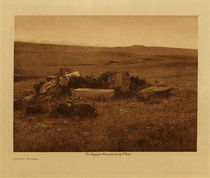 Title: Atsina Burial , Date: 1908 , Size: Volume, 9.5 x 12.5 inches , Medium: Vintage Photogravure , Edition: Vintage
