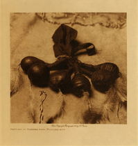 Title: Rattles of Arikara Bear Medicine Men , Date: 1908 , Size: Volume, 12.5 x 9.5 inches , Medium: Vintage Photogravure , Edition: Vintage