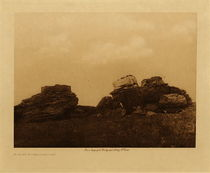 Title: Atsina Burial Ground , Date: 1908 , Size: Volume, 9.5 x 12.5 inches , Medium: Vintage Photogravure , Edition: Vintage