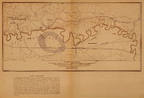 Title: Custer Battlefield - Map , Date: 1891 , Size: Volume, 12 1/4 x 18 1/8 inches , Medium: Vintage Photogravure , Edition: Vintage