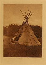 Title: A Chipewyan Tipi , Date: 1926 , Size: Volume, 12.5 x 9.5 inches , Medium: Vintage Photogravure , Edition: Vintage