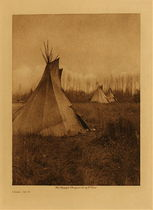 Title: Cree Tipis , Date: 1926 , Size: Volume, 12.5 x 9.5 inches , Medium: Vintage Photogravure , Edition: Vintage