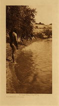 Title: The Bather - Mandan , Date: 1908 , Size: 12.5 x 9.5 inches , Medium: Vintage Photogravure