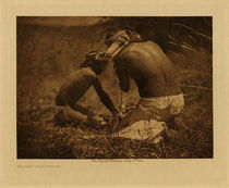 Title: The Fire Drill - Apache , Date: 1906 , Size: 9.5 x 12.5 inches , Medium: Vintage Photogravure