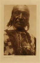 Title: He Crow - Ogalala , Date: 1907 , Size: Volume, 12.5 x 9.5 inches , Medium: Vintage Photogravure , Edition: Vintage