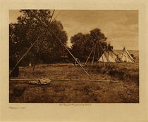Title: Making Camp , Date: 1908 , Size: Volume, 9.5 x 12.5 inches , Medium: Vintage Photogravure , Edition: Vintage