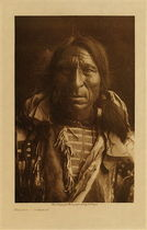 Title: Elk Boy - Ogalala , Date: 1907 , Size: Volume, 12.5 x 9.5 inches , Medium: Vintage Photogravure , Edition: Vintage