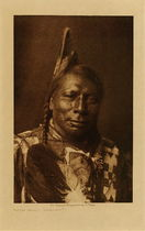 Title: Flying Shield - Yanktonai , Date: 1908 , Size: Volume, 12.5 x 9.5 inches , Medium: Vintage Photogravure , Edition: Vintage