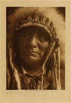Title: Red Hawk - Ogalala , Date: 1907 , Size: Volume, 12.5 x 9.5 inches , Medium: Vintage Photogravure , Edition: Vintage