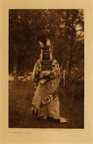 Title: A Flathead Chief , Date: 1910 , Size: Volume, 12.5 x 9.5 inches , Medium: Vintage Photogravure