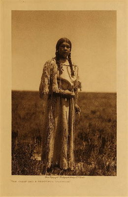 Title: The Chief Had a Beautiful Daughter , Date: 1908 , Size: Volume, 12.5 x 9.5 inches , Medium: Vintage Photogravure , Edition: Vintage