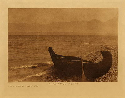 Title: Evening on Flathead Lake , Date: 1909 , Size: Volume, 9.5 x 12.5 inches , Medium: Vintage Photogravure , Edition: Vintage