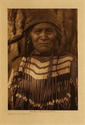 Title: Flathead Female Type , Date: 1910 , Size: Volume, 12.5 x 9.5 inches , Medium: Vintage Photogravure , Edition: Vintage