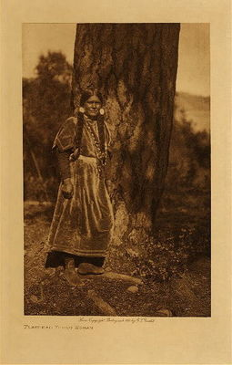 Title: Flathead Young Woman , Date: 1910 , Size: Volume, 12.5 x 9.5 inches , Medium: Vintage Photogravure , Edition: Vintage