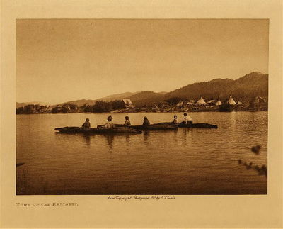 Title: Home of the Kalispel , Date: 1908 , Size: Volume, 9.5 x 12.5 inches , Medium: Vintage Photogravure , Edition: Vintage