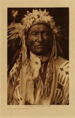 Title: Long Fox - Assiniboin , Date: 1910 , Size: Volume, 12.5 x 9.5 inches , Medium: Vintage Photogravure , Edition: Vintage