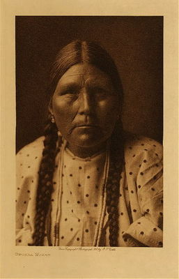 Title: Spokan Woman , Date: 1907 , Size: Volume, 12.5 x 9.5 inches , Medium: Vintage Photogravure , Edition: Vintage