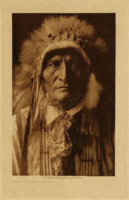 Title: Standing Bear - Ogalala , Date: 1910 , Size: Volume, 12.5 x 9.5 inches , Medium: Vintage Photogravure