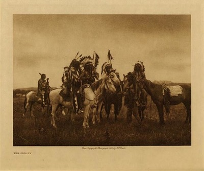 Title: The Parley , Date: 1908 , Size: Volume, 9.5 x 12.5 inches , Medium: Vintage Photogravure , Edition: Vintage