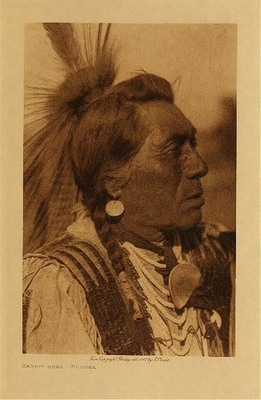 Title: Rabbit-Head - Hidatsa , Date: 1908 , Size: Volume, 12.5 x 9.5 inches , Medium: Vintage Photogravure , Edition: Vintage
