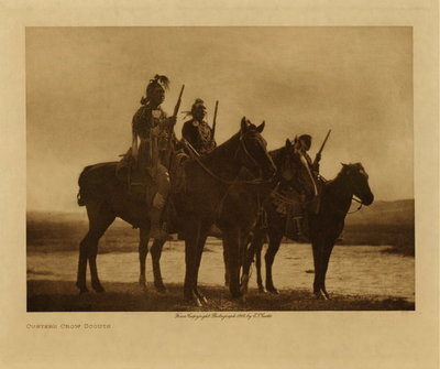 Title: Custer's Crow Scouts , Date: 1908 , Size: Volume, 9.5 x 12.5 inches , Medium: Vintage Photogravure , Edition: Vintage
