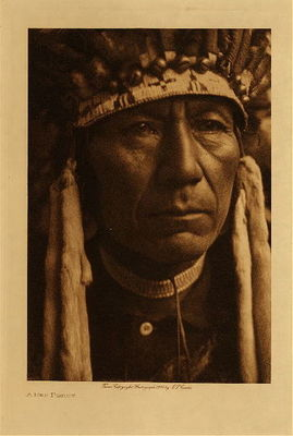 Title: A Nez Perce , Date: 1910 , Size: Volume, 12.5 x 9.5 inches , Medium: Vintage Photogravure , Edition: Vintage
