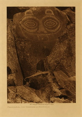 Title: Tsagiglalal, the Guardian of Nihhluidih , Date: 1910 , Size: Volume, 12.5 x 9.5 inches , Medium: Vintage Photogravure , Edition: Vintage