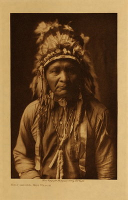 Title: Half-shorn - Nez Perce , Date: 1910 , Size: Volume, 12.5 x 9.5 inches , Medium: Vintage Photogravure , Edition: Vintage