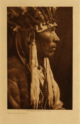 Title: Nez Perce Profile , Date: 1910 , Size: Volume, 12.5 x 9.5 inches , Medium: Vintage Photogravure , Edition: Vintage