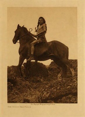 Title: The Scout - Nez Perce , Date: 1910 , Size: Volume, 12.5 x 9.5 inches , Medium: Vintage Photogravure , Edition: Vintage