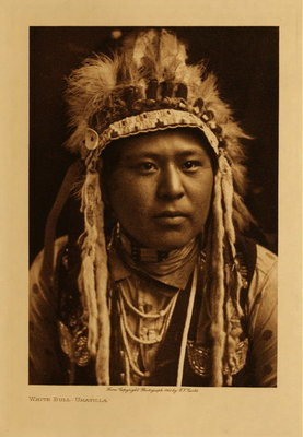 Title: White Bull - Umatilla , Date: 1910 , Size: Volume, 12.5 x 9.5 inches , Medium: Vintage Photogravure , Edition: Vintage