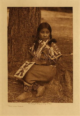 Title: Umatilla Child , Date: 1910 , Size: Volume, 12.5 x 9.5 inches , Medium: Vintage Photogravure , Edition: Vintage