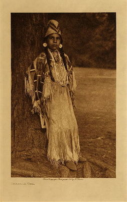 Title: Umatilla Girl , Date: 1910 , Size: Volume, 12.5 x 9.5 inches , Medium: Vintage Photogravure , Edition: Vintage