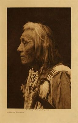 Title: Cayuse Profile , Date: 1910 , Size: Volume, 12.5 x 9.5 inches , Medium: Vintage Photogravure , Edition: Vintage