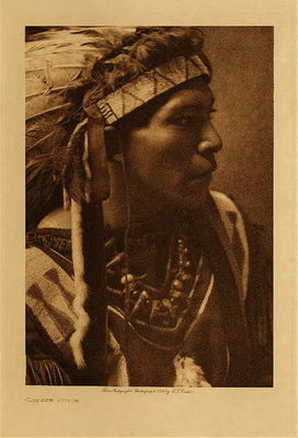 Title: Cayuse Youth , Date: 1910 , Size: Volume, 12.5 x 9.5 inches , Medium: Vintage Photogravure , Edition: Vintage