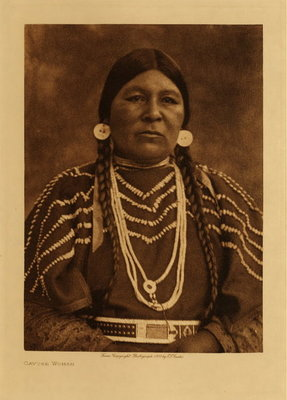Title: Cayuse Woman , Date: 1910 , Size: Volume, 12.5 x 9.5 inches , Medium: Vintage Photogravure , Edition: Vintage