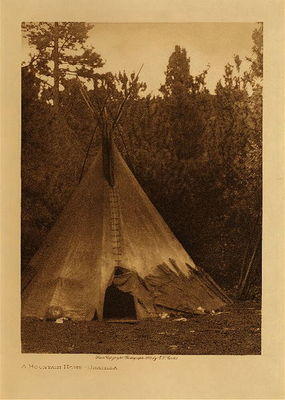 Title: A Mountain Home - Umatilla , Date: 1910 , Size: Volume, 12.5 x 9.5 inches , Medium: Vintage Photogravure , Edition: Vintage