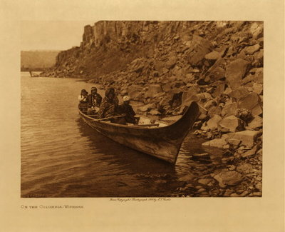 Title: On the Columbia - Wishham , Date: 1910 , Size: Volume, 9.5 x 12.5 inches , Medium: Vintage Photogravure , Edition: Vintage