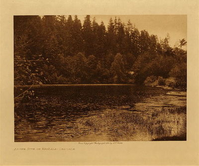 Title: At the Site of Wahala - Cascade , Date: 1909 , Size: Volume, 9.5 x 12.5 inches , Medium: Vintage Photogravure , Edition: Vintage