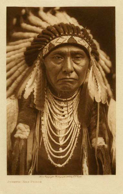 Title: Joseph - Nez Perce , Date: 1903 , Size: Volume, 12.5 x 9.5 inches , Medium: Vintage Photogravure , Edition: Vintage