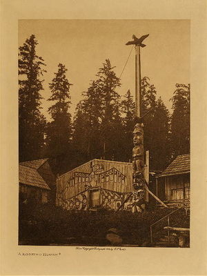 Title:   Complete Volume X - The Kwakiutl , Date: 1914 , Size: Volume: 12.5 x 9.75 x 2.5 inches , Medium: Vintage Photogravure , Edition: Vintage