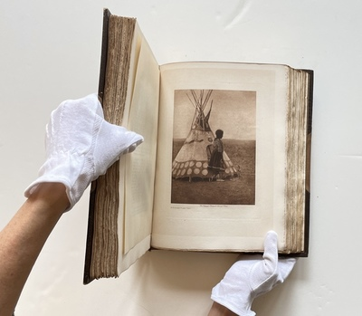 Title:   Complete Volume XVIII - Chipewyan, Cree and Sarsi , Date: 1926 , Size: Volume: 12.5 x 9.75 x 2.5 inches , Medium: Vintage Photogravure , Edition: Vintage