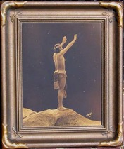 Title: Prayer to the Stars , Size: 14 x 11 inches , Medium: Vintage Goldtone , Signed: L/R , Edition: Vintage