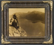 Title: Crater Lake , Size: 11 x 14 inches , Medium: Vintage Goldtone , Signed: Signed , Edition: Vintage