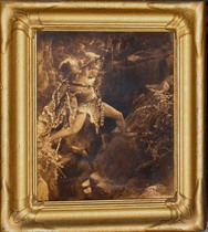 Title: Tarzan (Unpublished) , Date: 1920 , Size: 14 x 11 inches , Medium: Vintage Goldtone , Signed: L/R , Edition: L.A. Studio