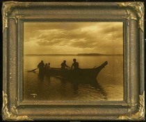 Title: Homeward , Size: 11 x 14 inches , Medium: Vintage Goldtone , Signed: Signed , Edition: Vintage